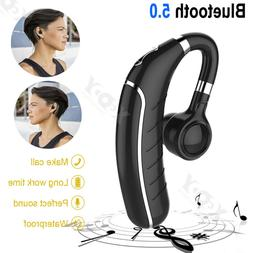 Wireless Bluetooth Headset Noise Cancelling Cell Phone Car T
