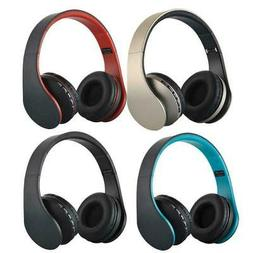 Wireless Headset Stereo Headphones Earphone With Mic For Cel
