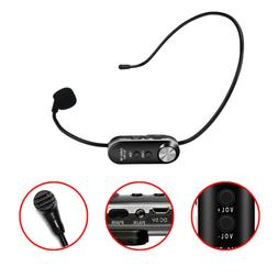 Wireless Microphone UHF Headset Mic 10 Channel Rechargeable