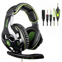 PS4 Headset,SADES 810 PC Gaming Headset Over-Ear Gaming Head